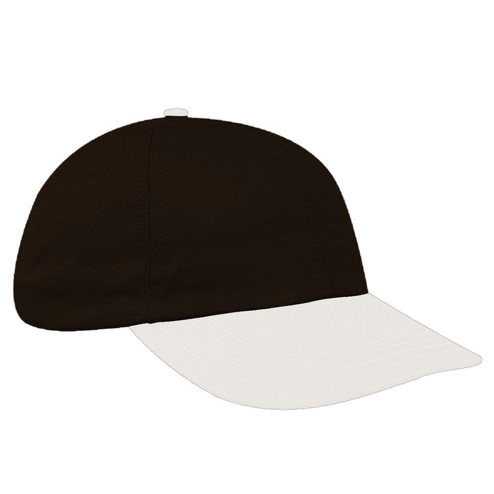Black-White Denim Velcro Dad Cap