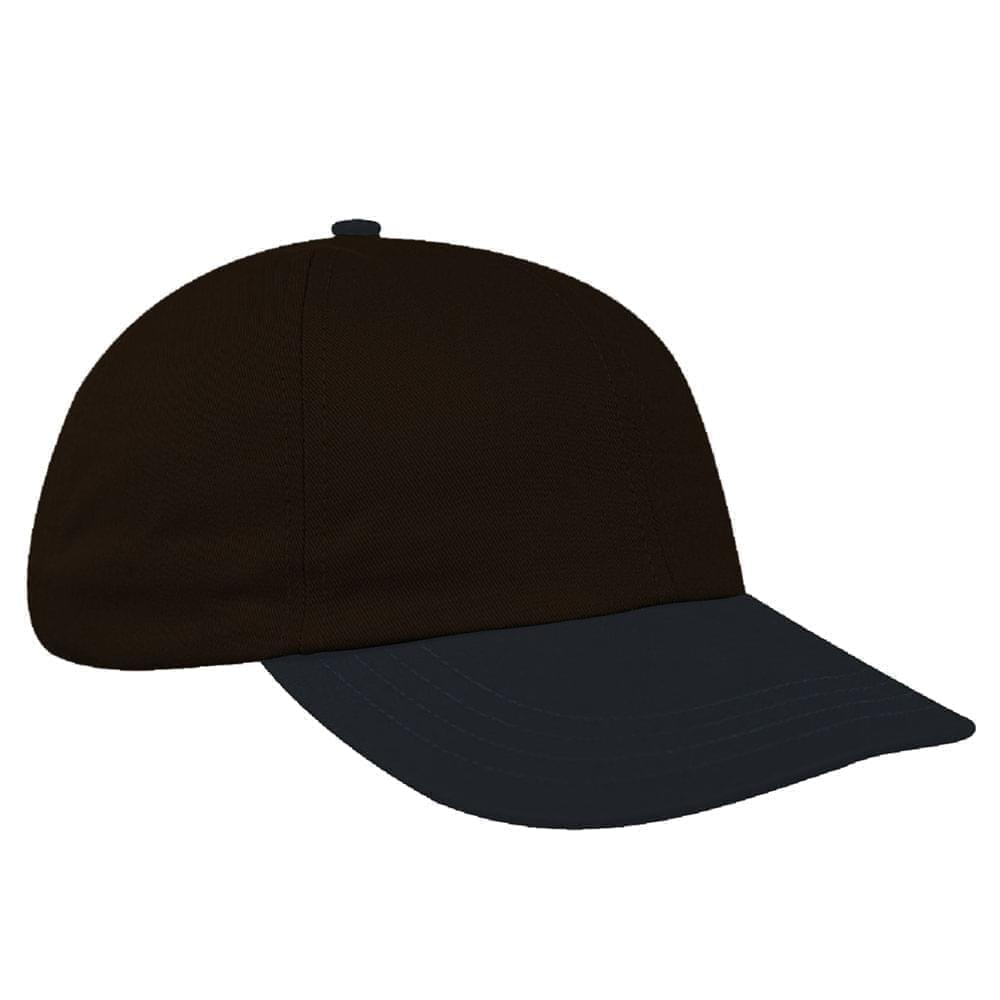 Black-Dark Gray Denim Velcro Dad Cap