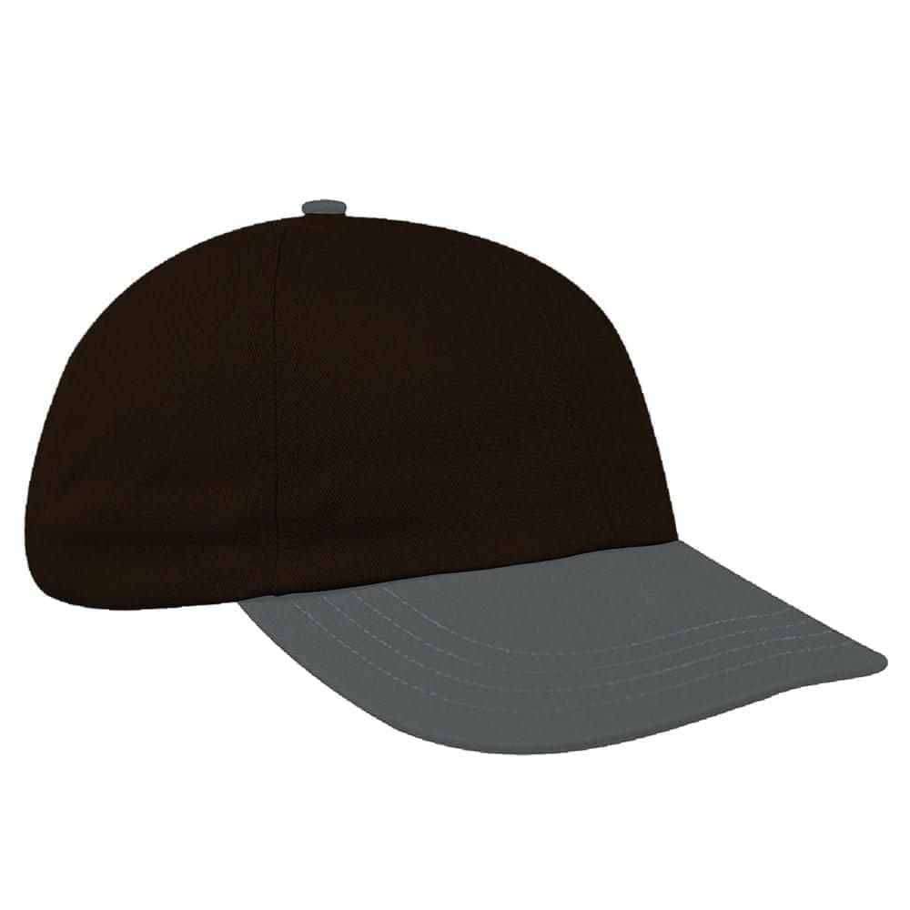 Black-Light Gray Denim Velcro Dad Cap