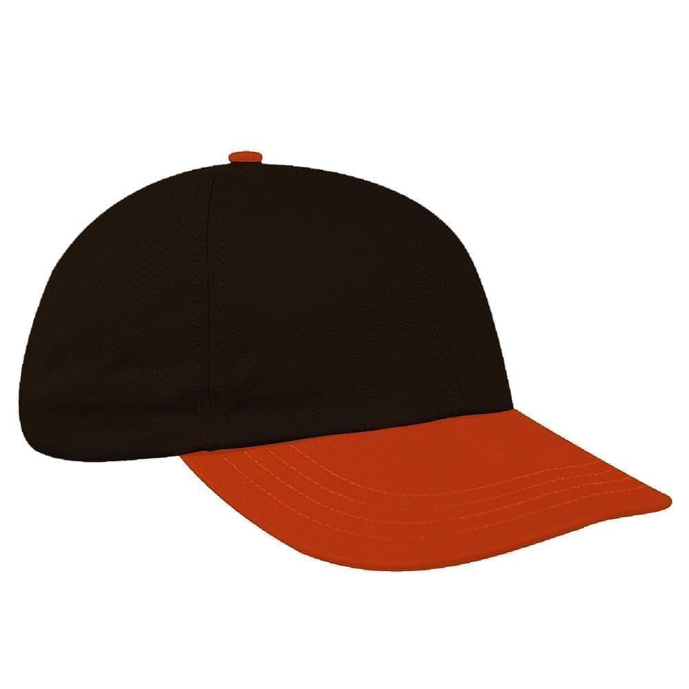 3fbf007a USA Made Black-Blaze Orange Twill Self Strap Dad Cap