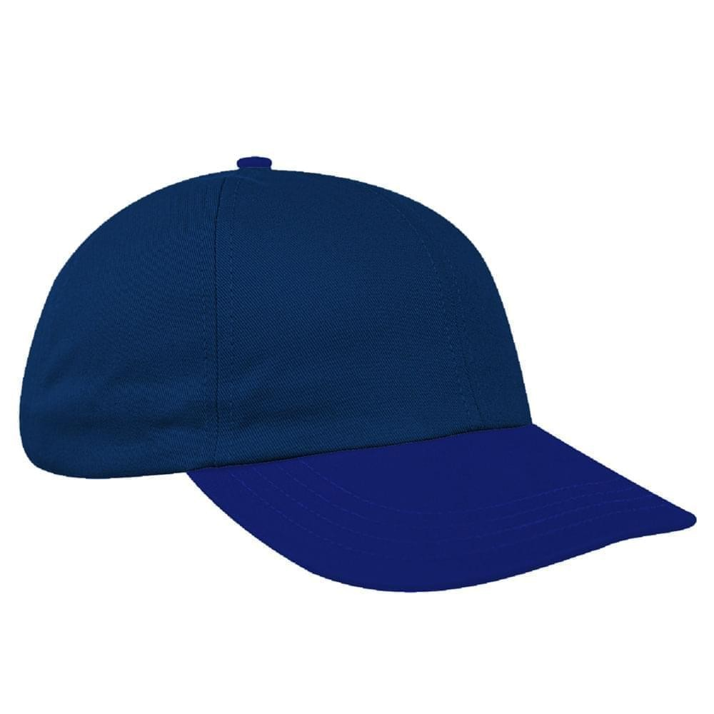 Navy-Royal Blue Denim Velcro Dad Cap
