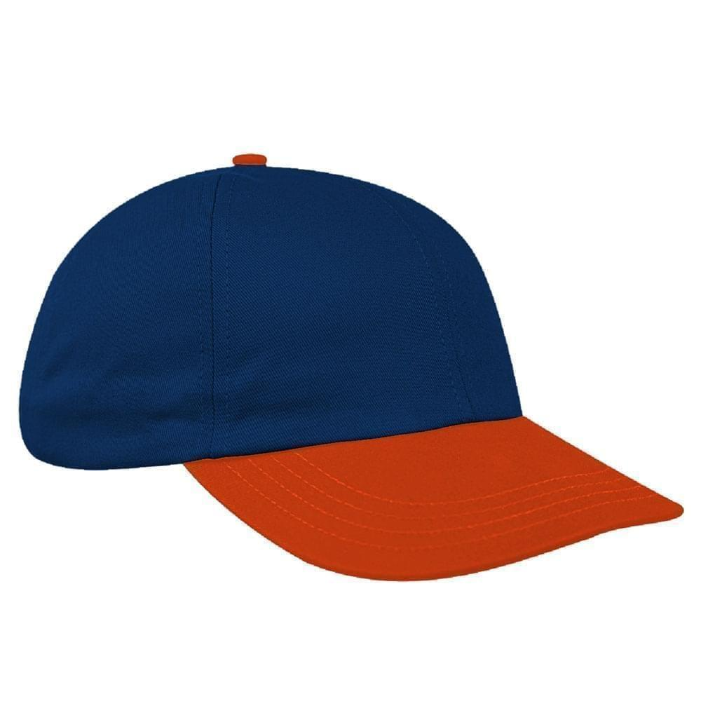 Navy-Orange Canvas Self Strap Dad Cap