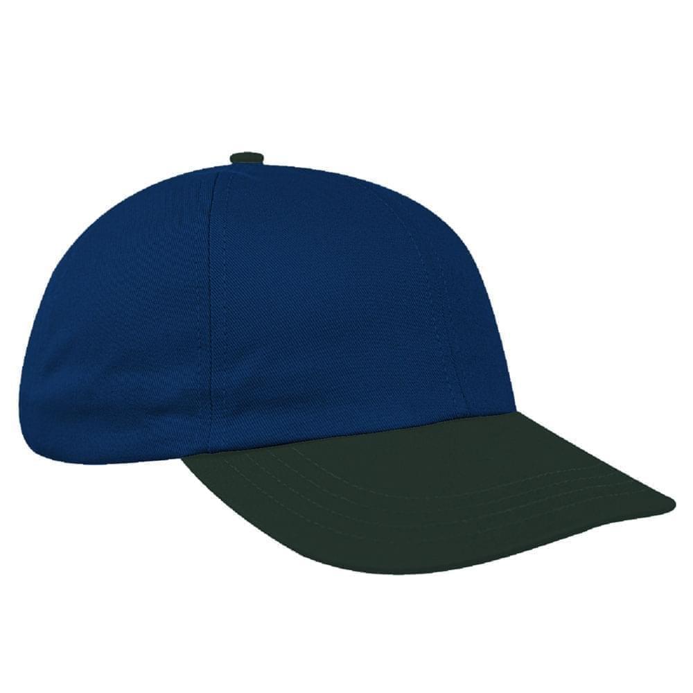 Navy-Hunter Green Denim Velcro Dad Cap