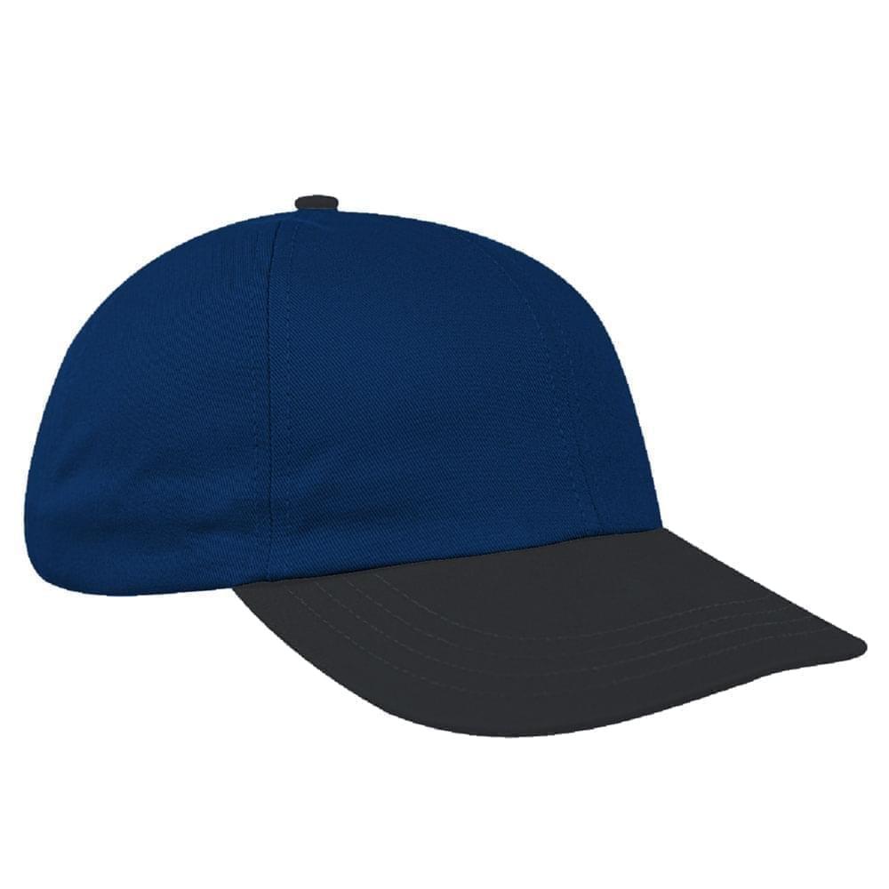 Navy-Dark Gray Denim Velcro Dad Cap