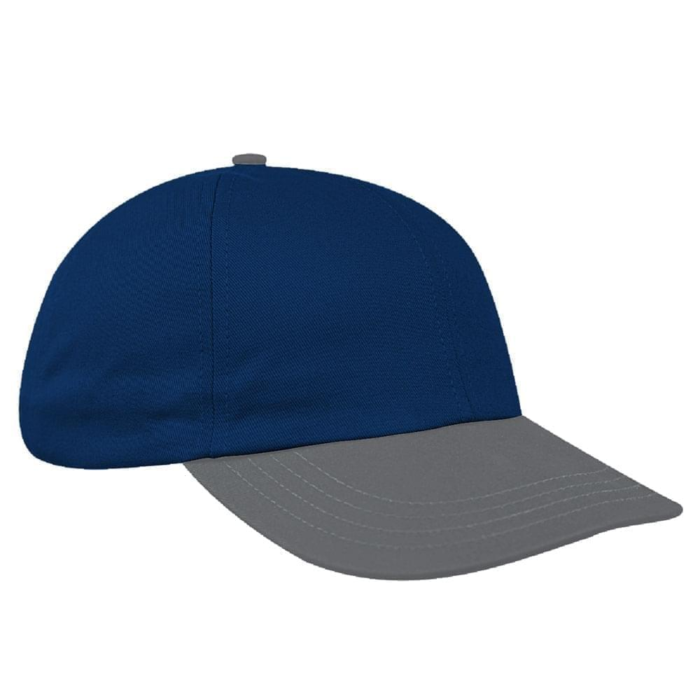 Navy-Light Gray Denim Velcro Dad Cap