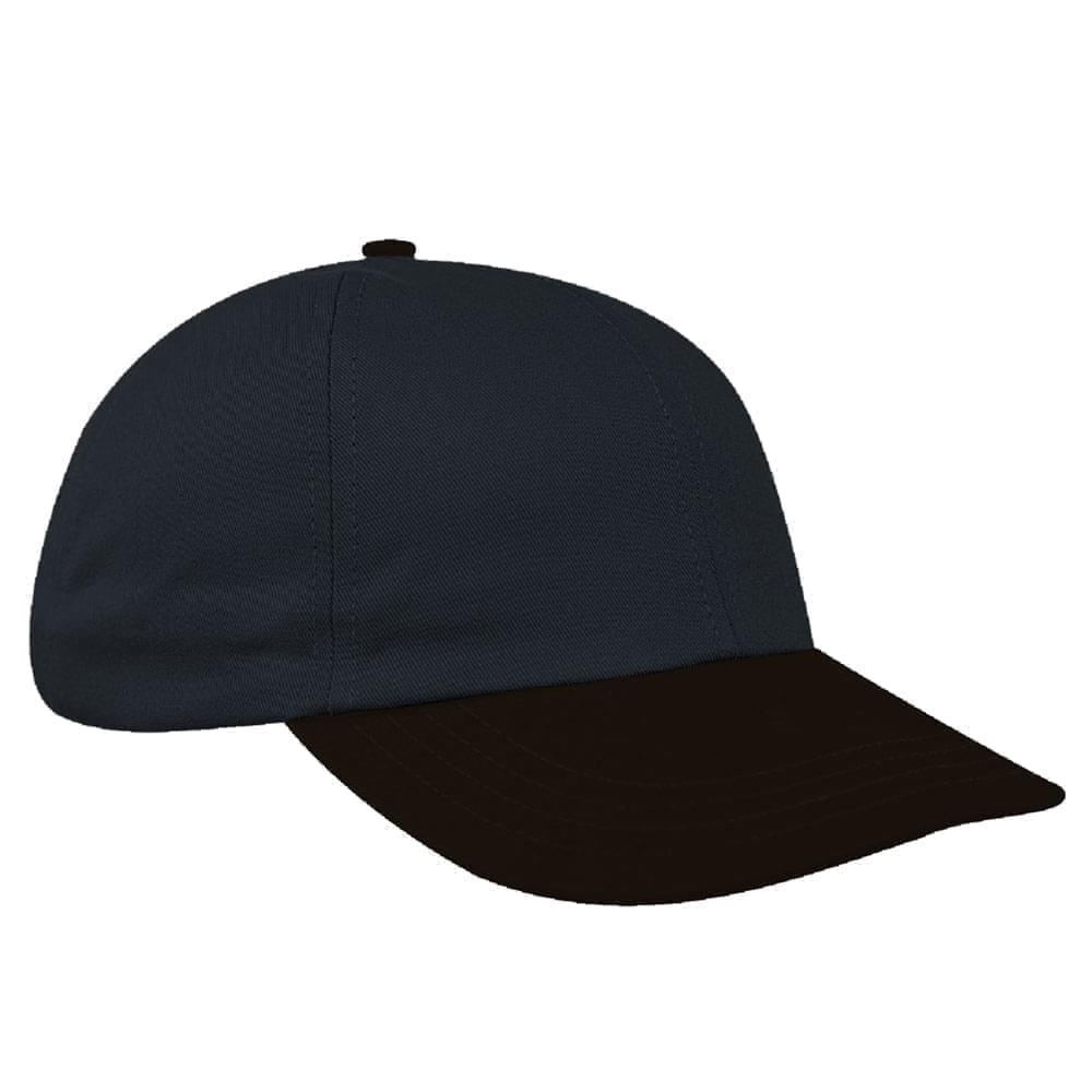 Dark Gray-Black Denim Velcro Dad Cap