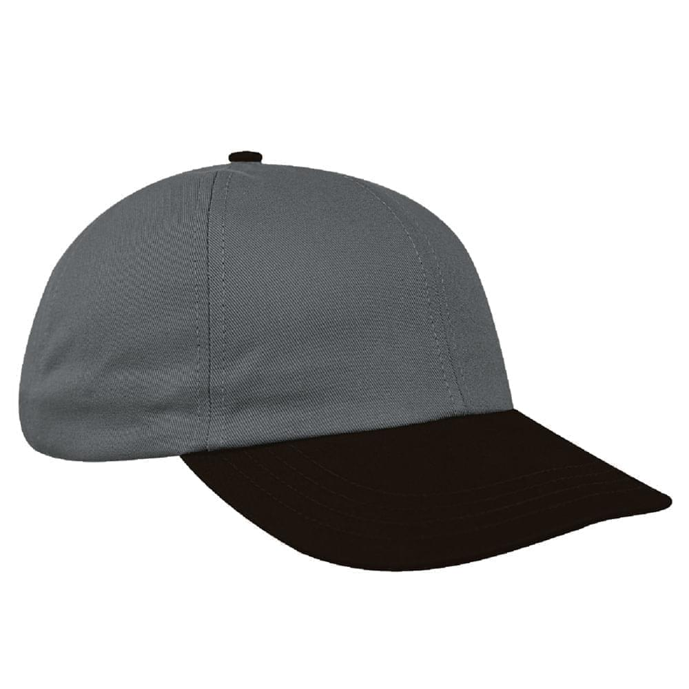 Light Gray-Black Denim Velcro Dad Cap
