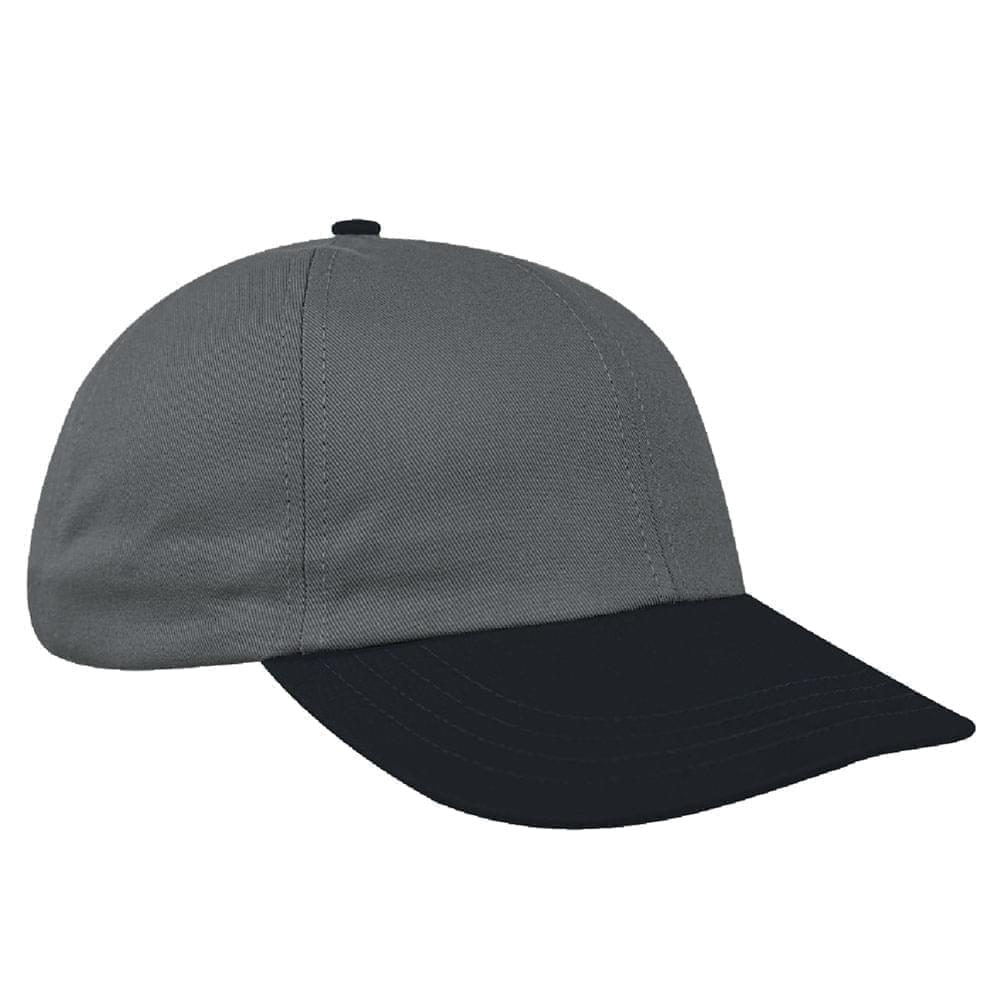 Light Gray-Dark Gray Denim Velcro Dad Cap