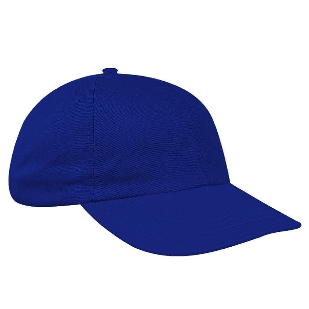 Royal Blue Canvas Self Strap Dad Cap