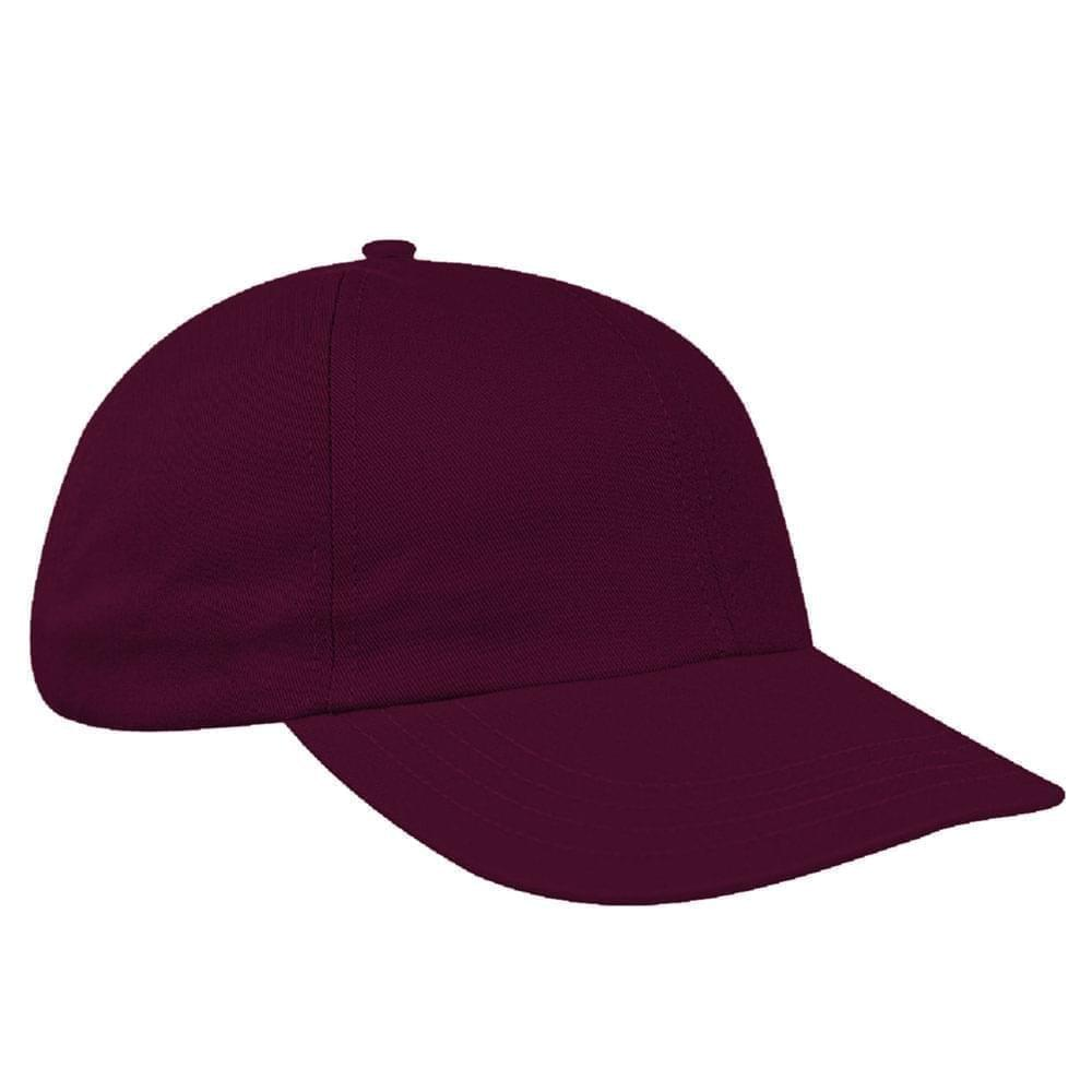 Burgundy Canvas Slide Buckle Dad Cap