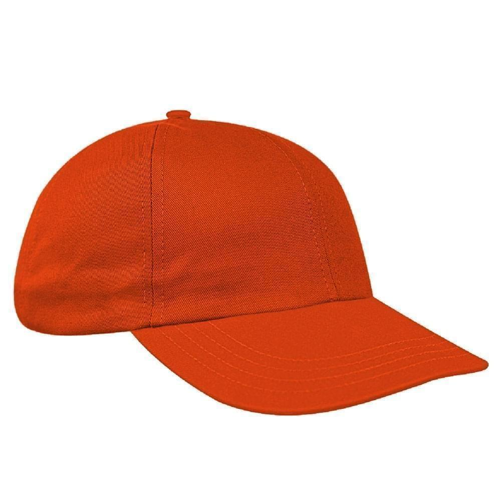Orange Canvas Leather Dad Cap