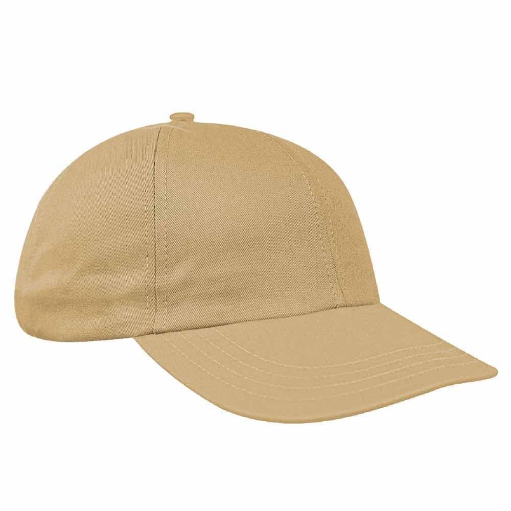 Khaki Denim Velcro Dad Cap