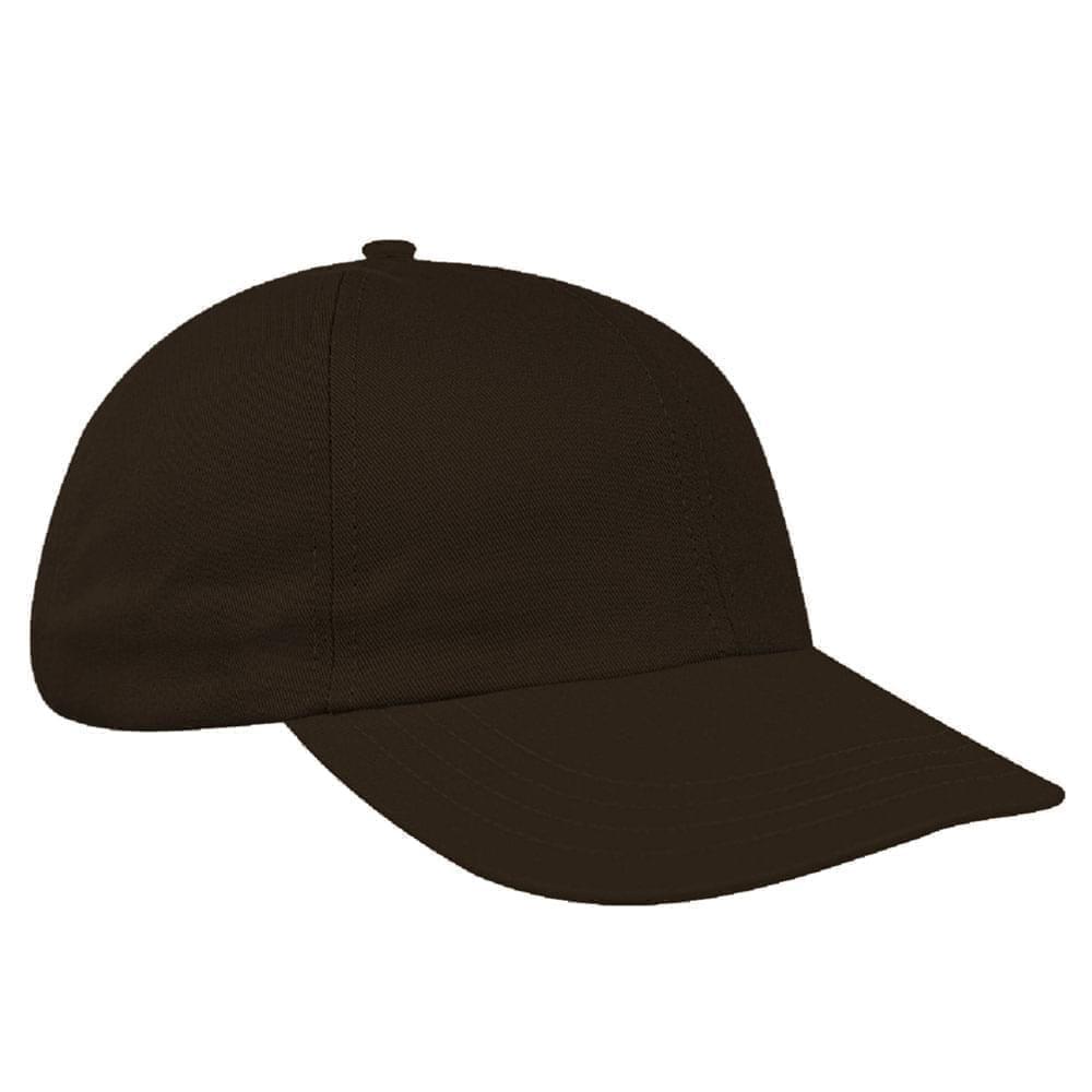Black Canvas Leather Dad Cap
