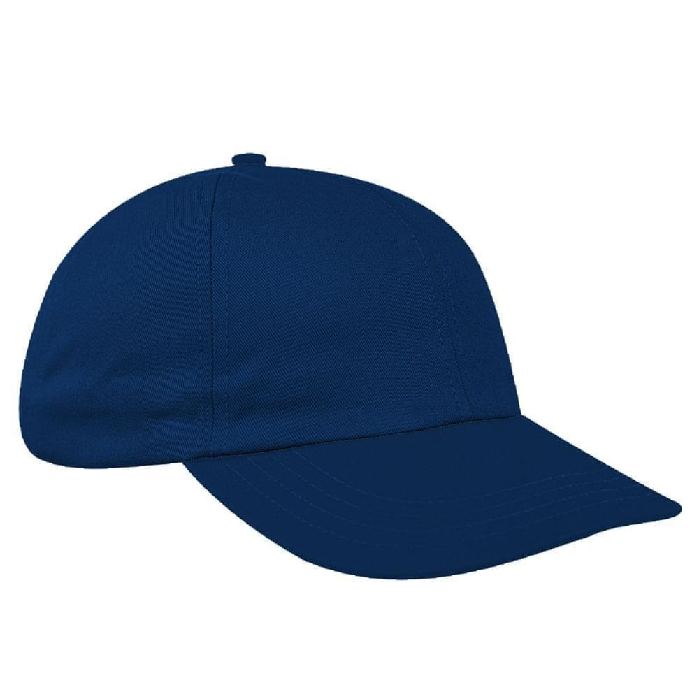 Navy Canvas Leather Dad Cap