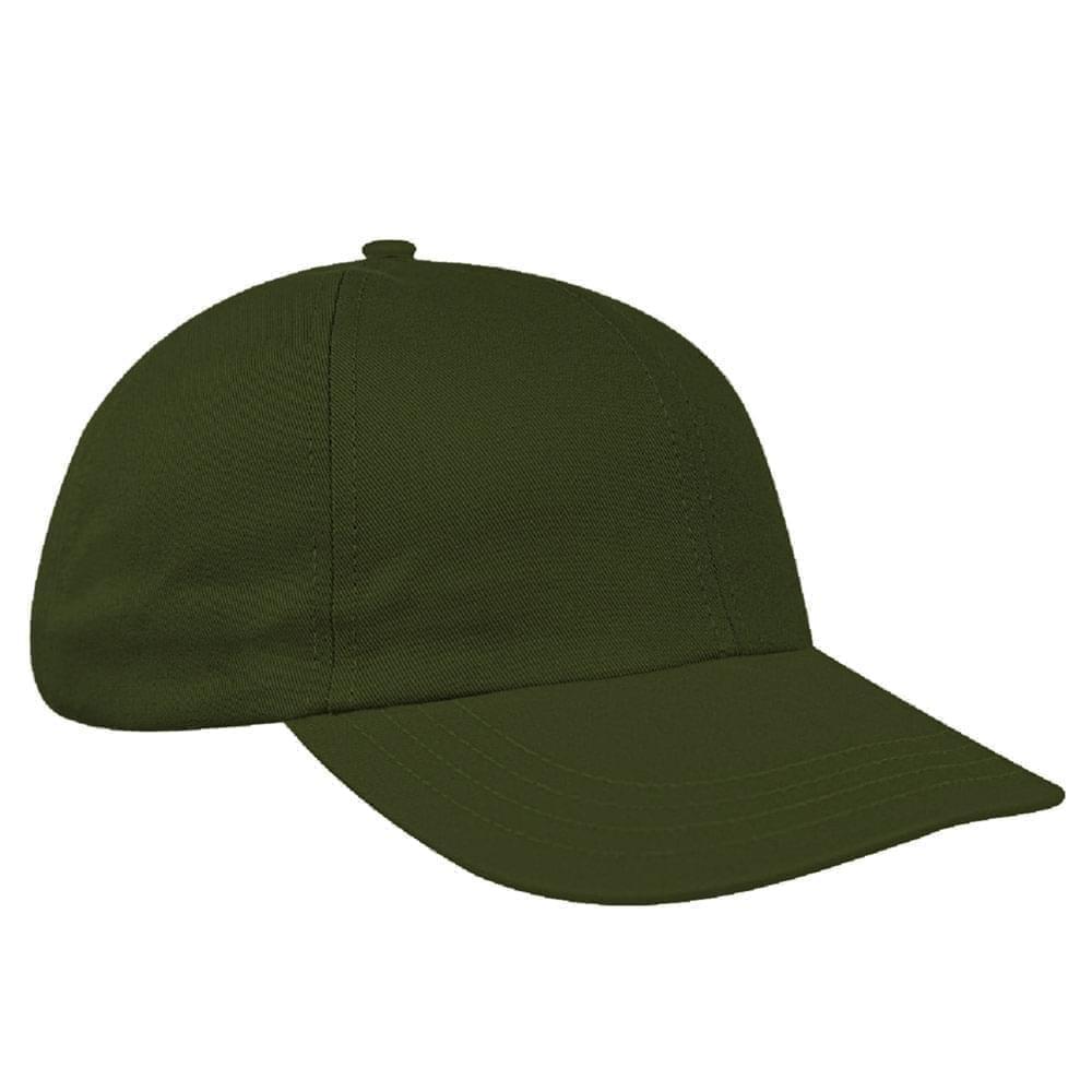 Olive Green Denim Velcro Dad Cap