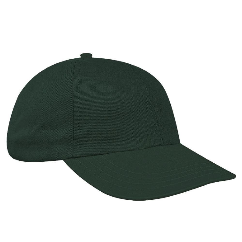 Hunter Green Canvas Leather Dad Cap