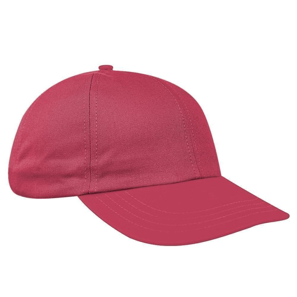 Nautical Red Denim Velcro Dad Cap