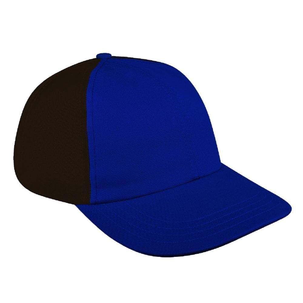 Royal Blue-Black Denim Velcro Dad Cap