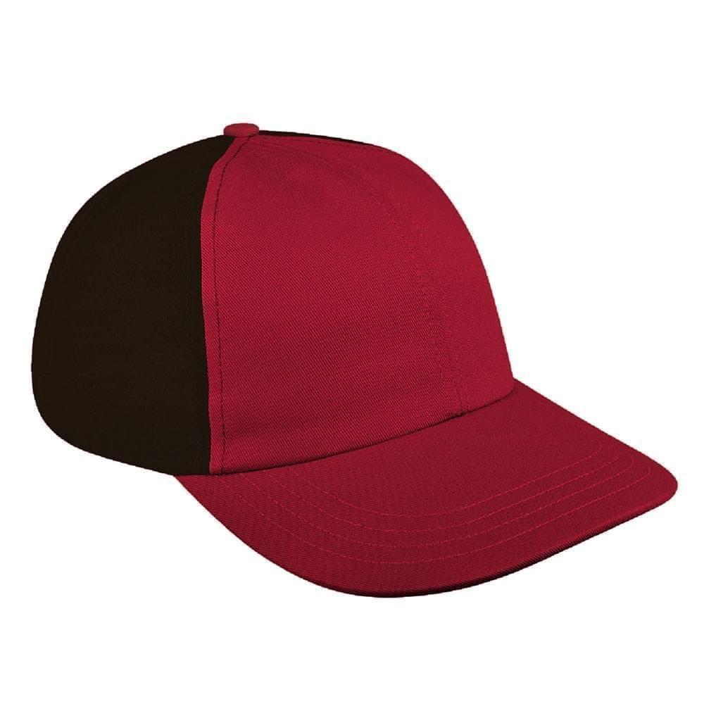 Red-Black Canvas Snapback Dad Cap