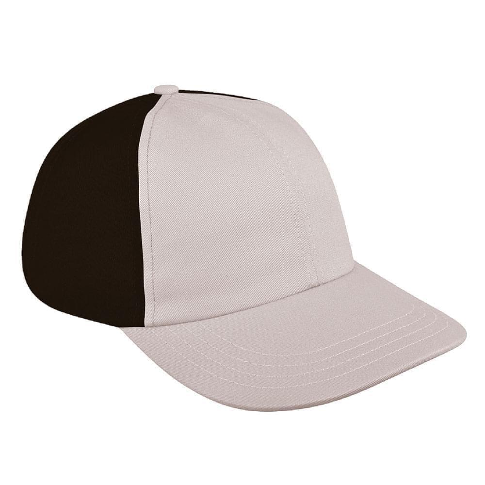 Putty-Black Denim Velcro Dad Cap