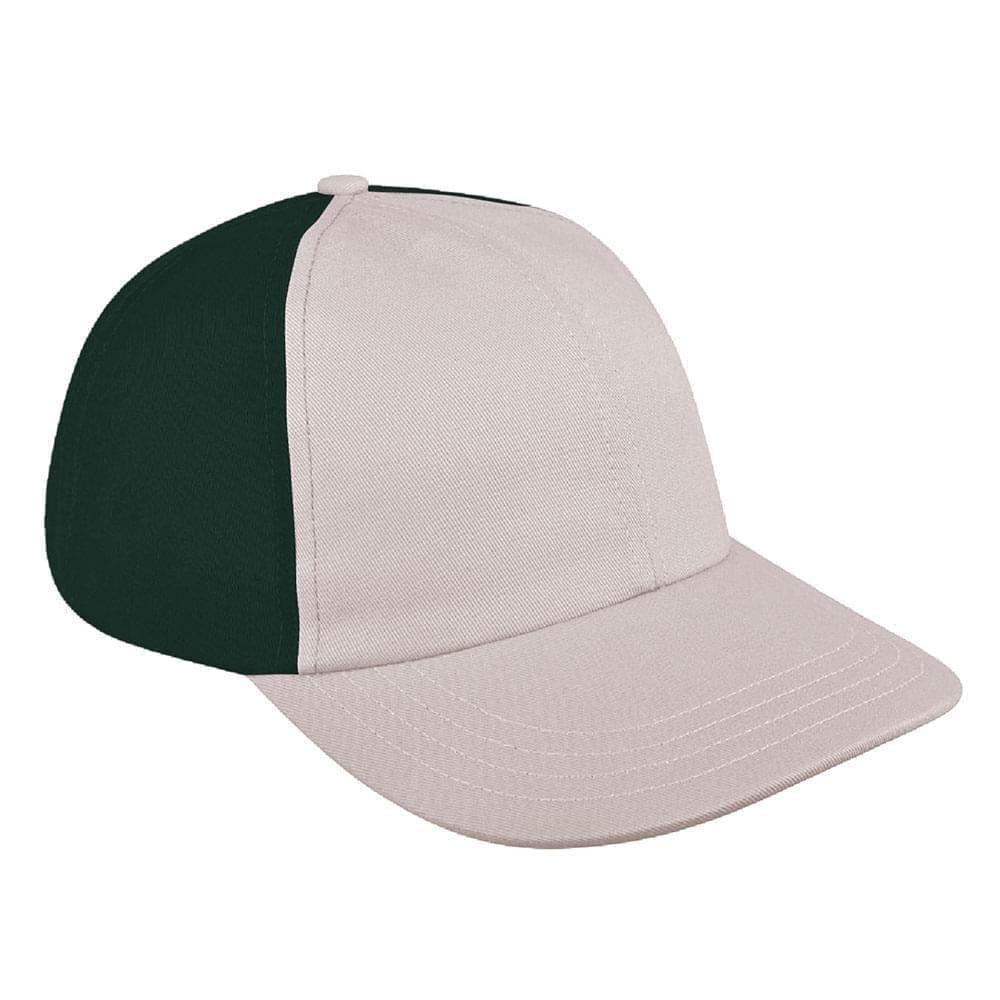 Putty-Hunter Green Denim Velcro Dad Cap