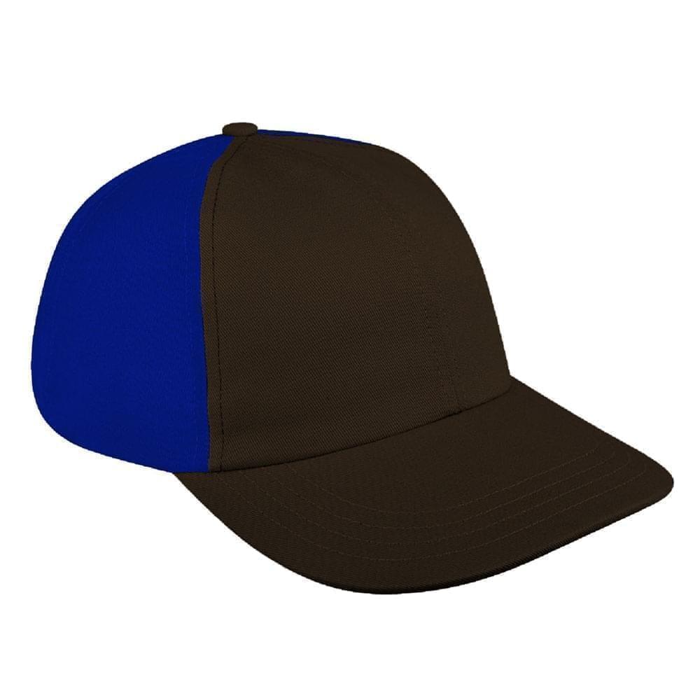 Black-Royal Blue Canvas Slide Buckle Dad Cap