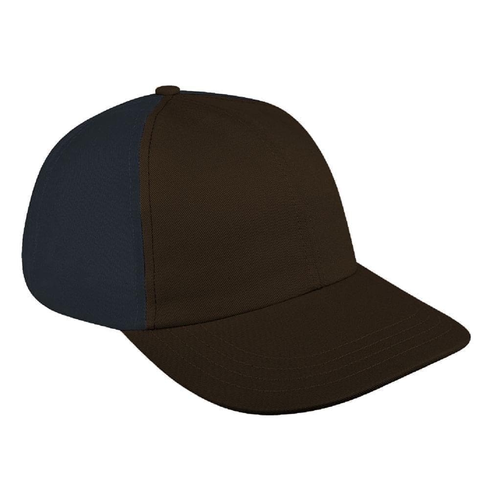 Black-Dark Gray Denim Velcro Dad Cap