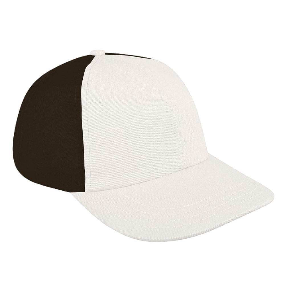 White-Black Denim Velcro Dad Cap