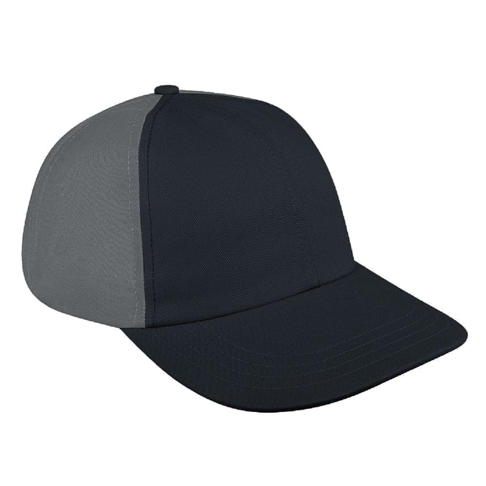 Dark Gray-Light Gray Denim Velcro Dad Cap
