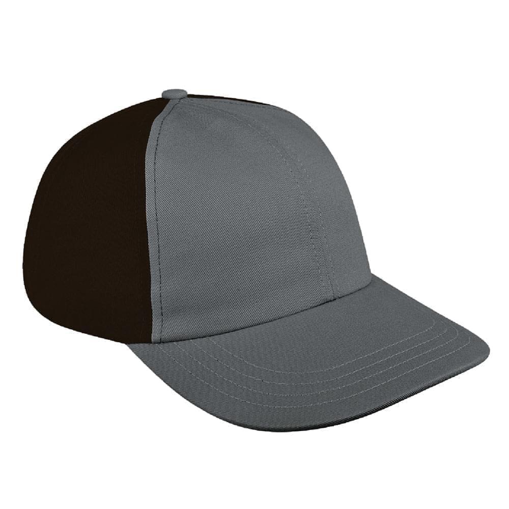 Light Gray-Black Denim Velcro Dad Cap