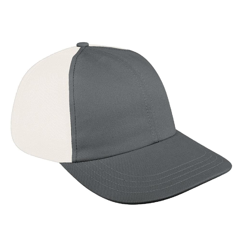 Light Gray-White Denim Velcro Dad Cap