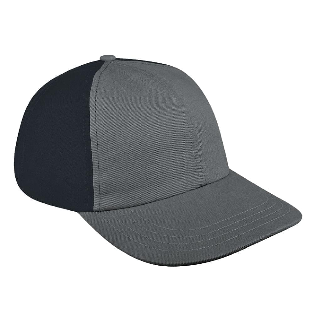 Light Gray-Dark Gray Denim Velcro Dad Cap