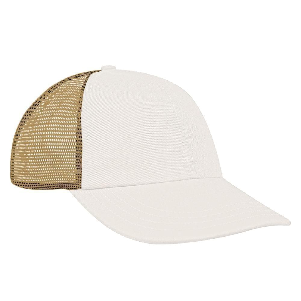 Contrast Mesh Back Brushed Front Snapback Dad Cap