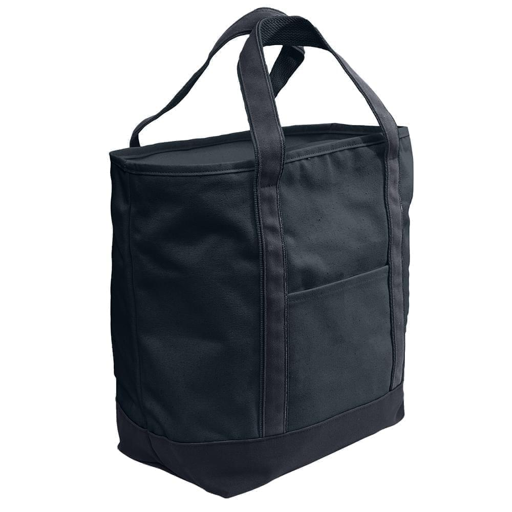 USA Made Heavy Canvas XL Beach Totes, Black-Graphite, 7001216-ANT