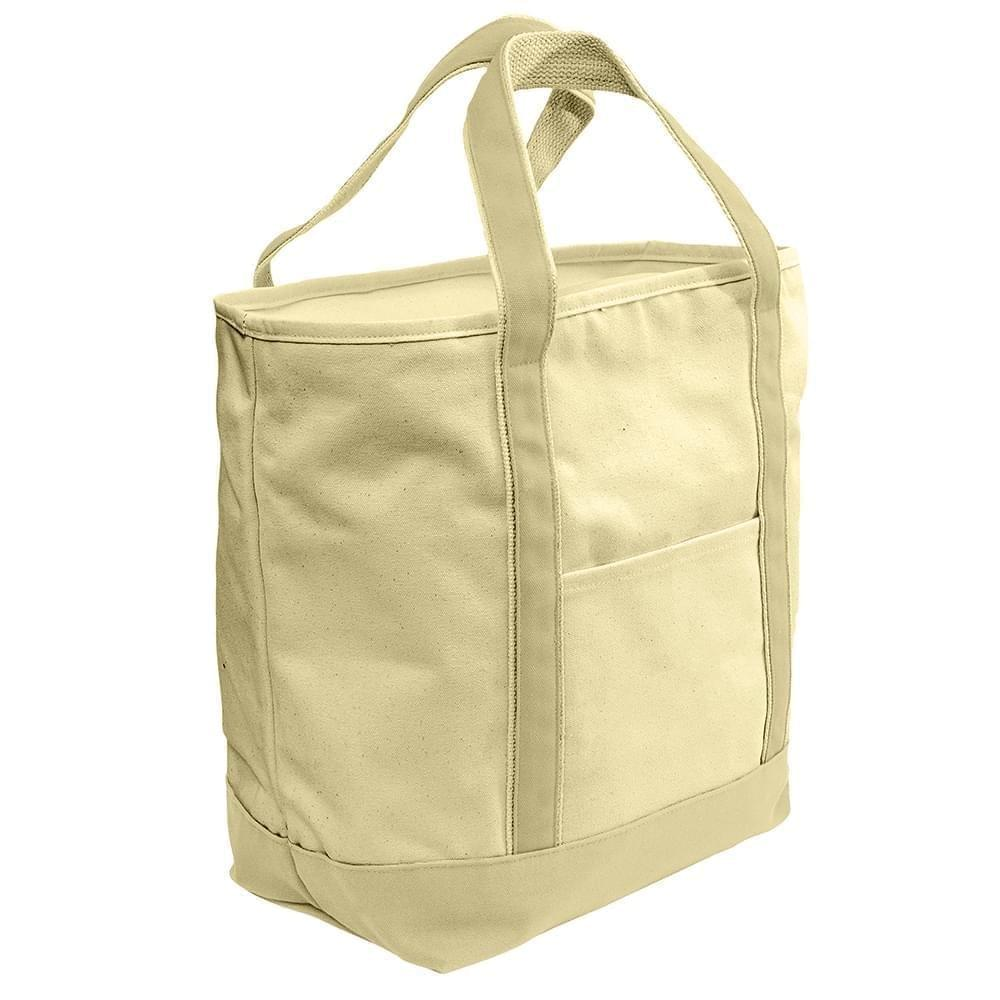 USA Made Heavy Canvas XL Beach Totes, Natural-Natural, 7001216-AVA