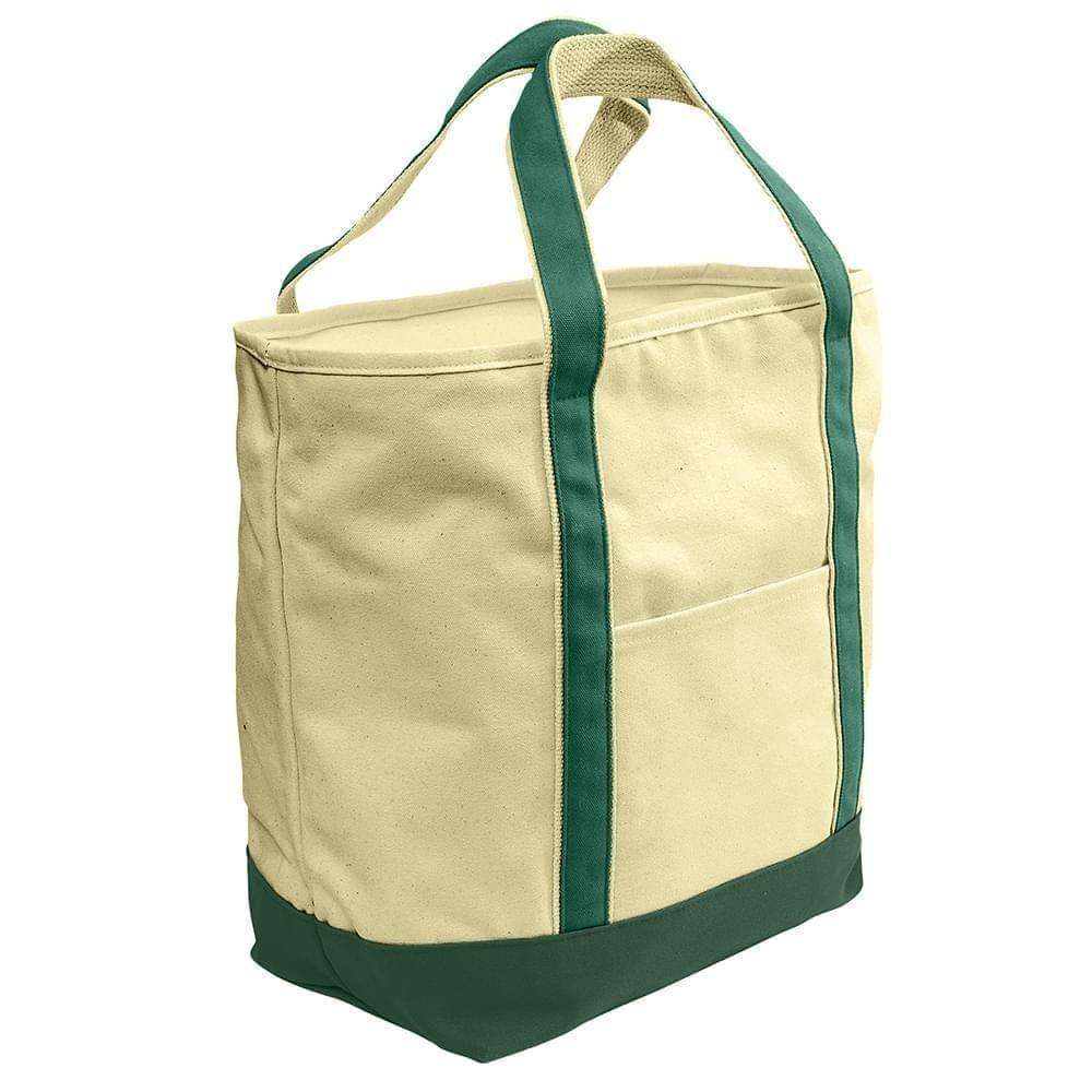 USA Made Heavy Canvas XL Beach Totes, Natural-Hunter, 7001216-AVV