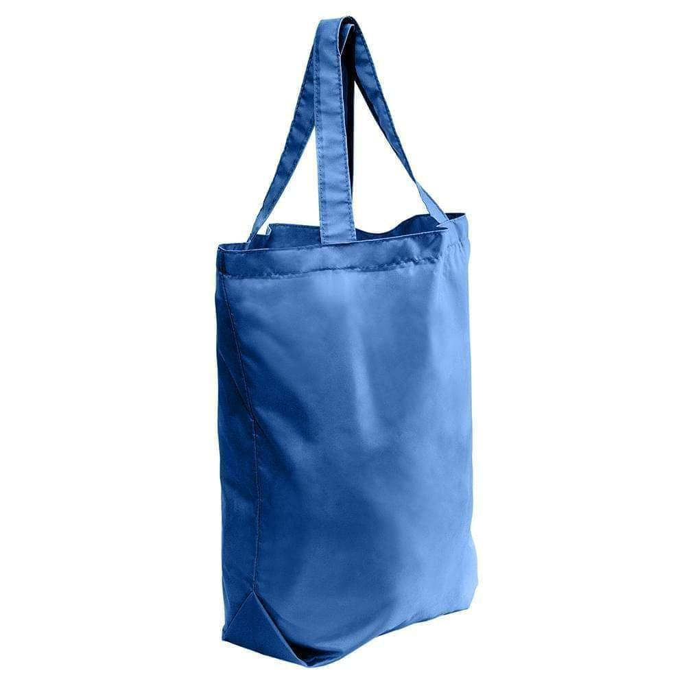 USA Made Nylon Poly Self Handle Totes, Royal-Royal, 7001682-A0M