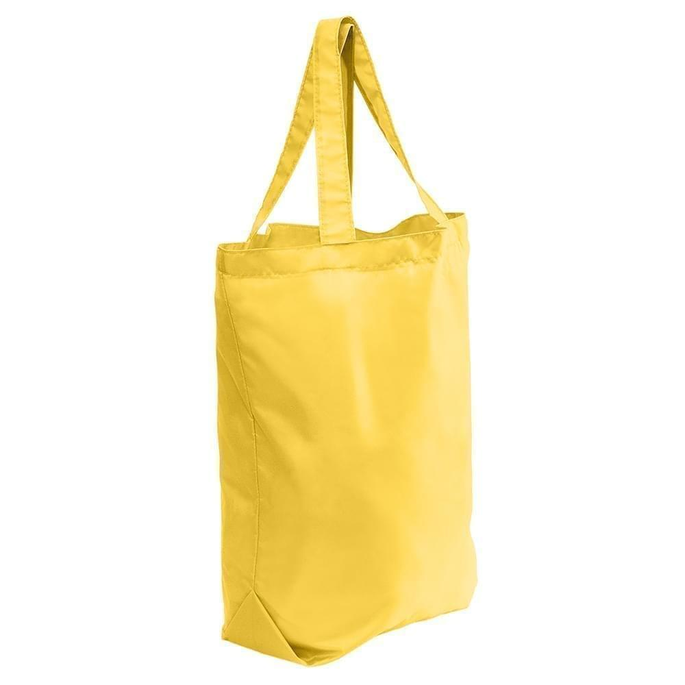 USA Made Nylon Poly Self Handle Totes, Gold-Gold, 7001682-A4Q