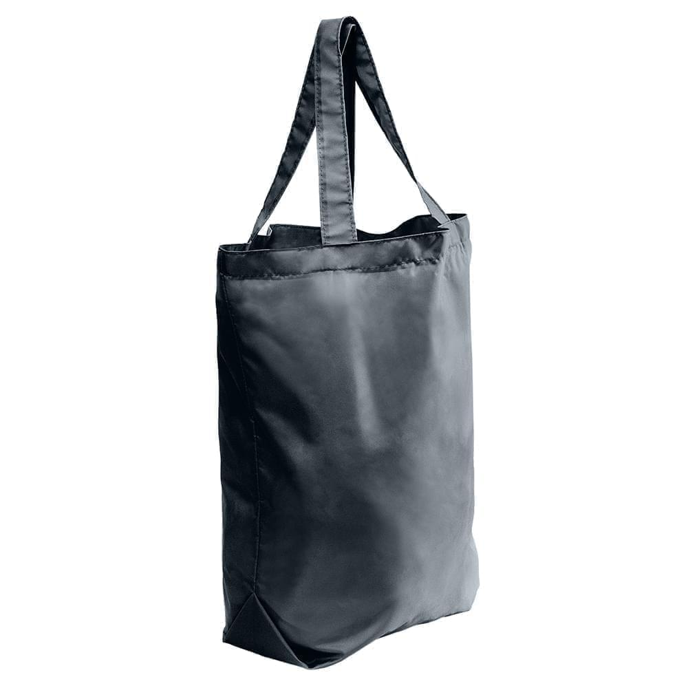 USA Made Nylon Poly Self Handle Totes, Black-Black, 7001682-AOC