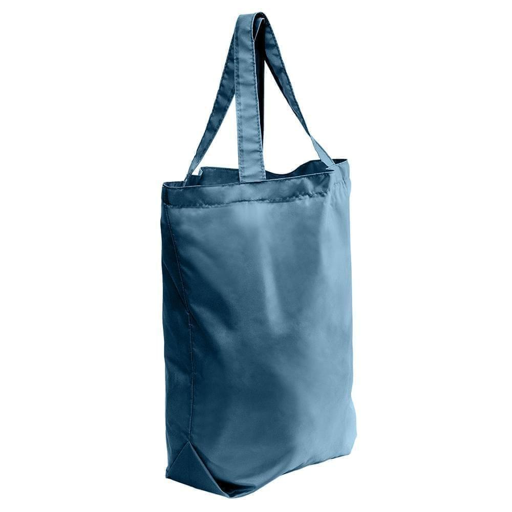 USA Made Nylon Poly Self Handle Totes, Navy-Navy, 7001682-AWI