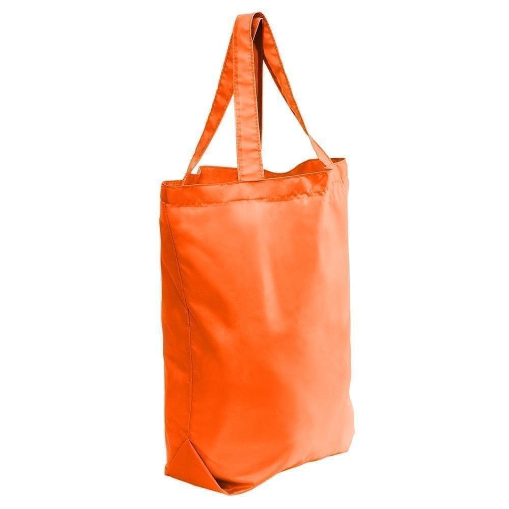 USA Made Nylon Poly Self Handle Totes, Orange-Orange, 7001682-AXJ