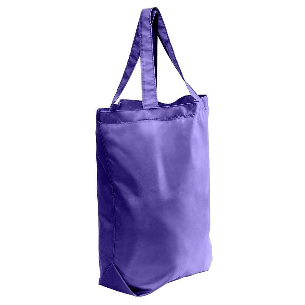 USA Made Nylon Poly Self Handle Totes, Purple-Purple, 7001682-AYK