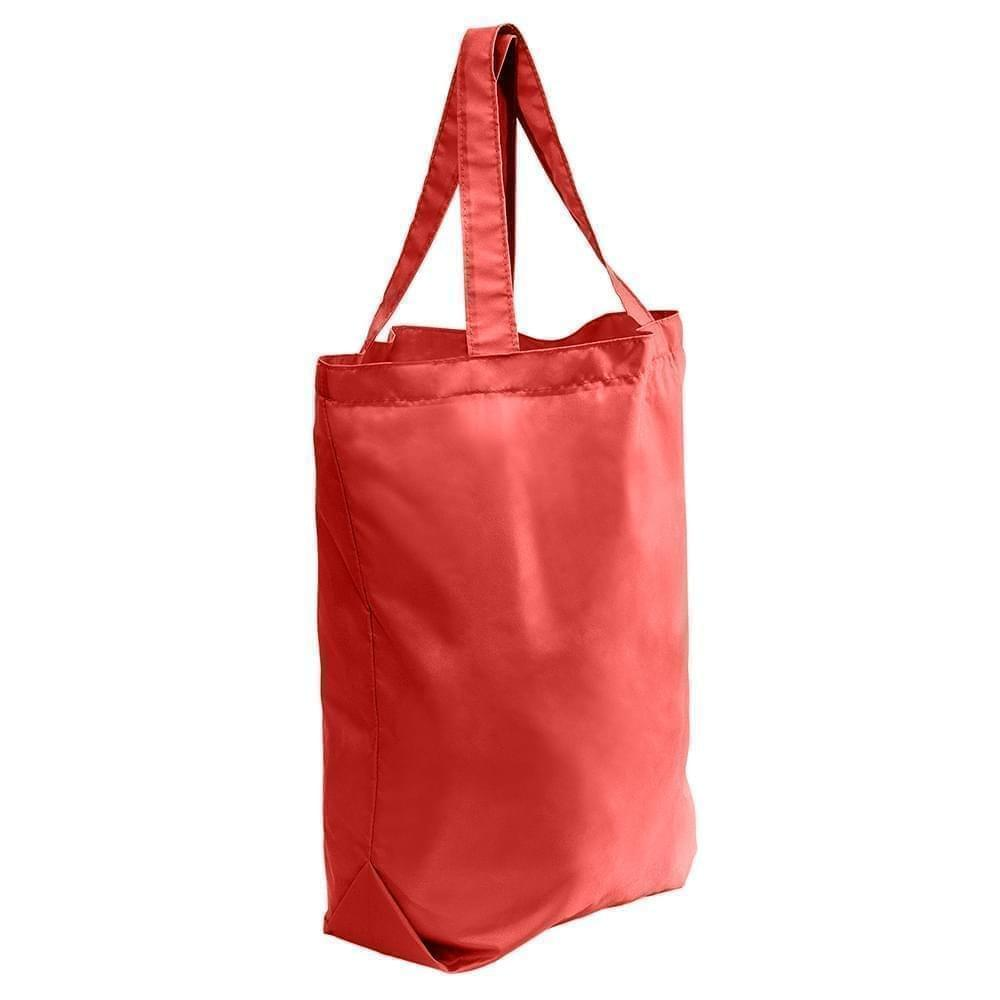 USA Made Nylon Poly Self Handle Totes, Red-Red, 7001682-AZL