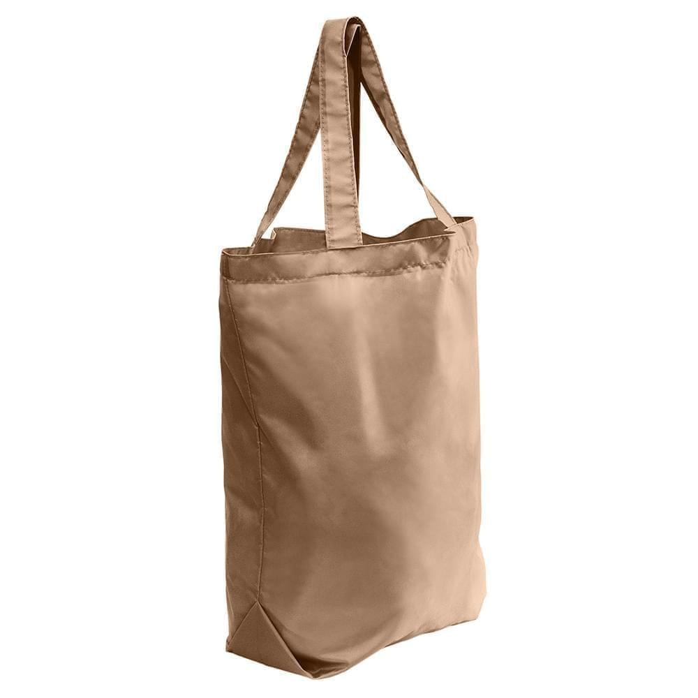 USA Made 200 D Nylon Self Handle Totes, Khaki-Khaki, 7001682-T2X