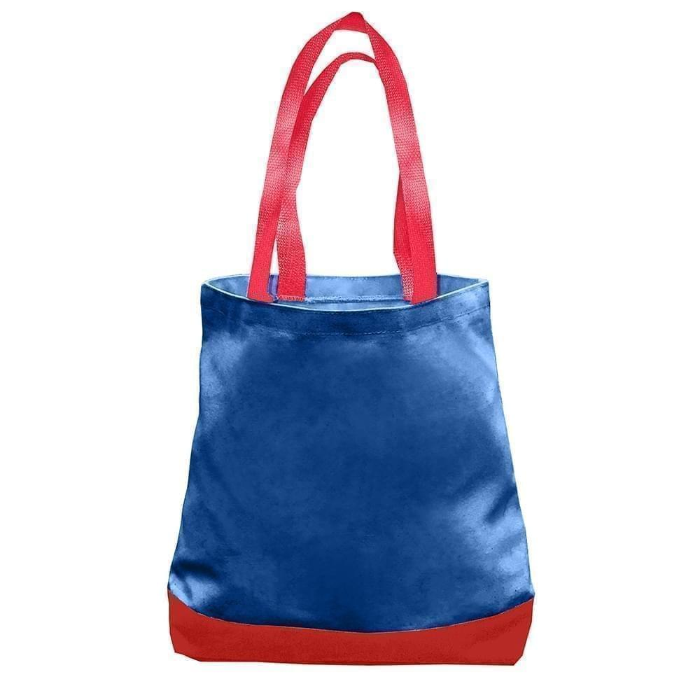 USA Made Nylon Poly Promo Boat Totes, Royal-Red, 7011000-A02