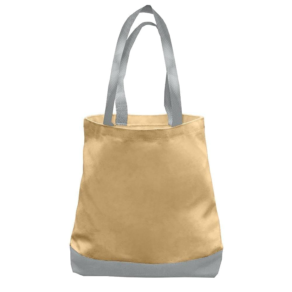 USA Made Nylon Poly Promo Boat Totes, Khaki-Gray, 7011000-A2U