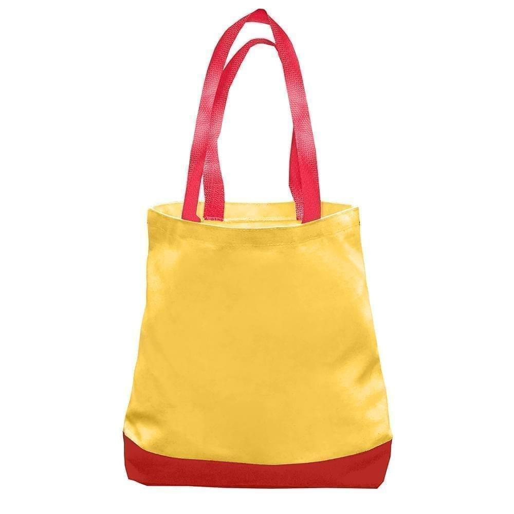 USA Made Nylon Poly Promo Boat Totes, Gold-Red, 7011000-A42