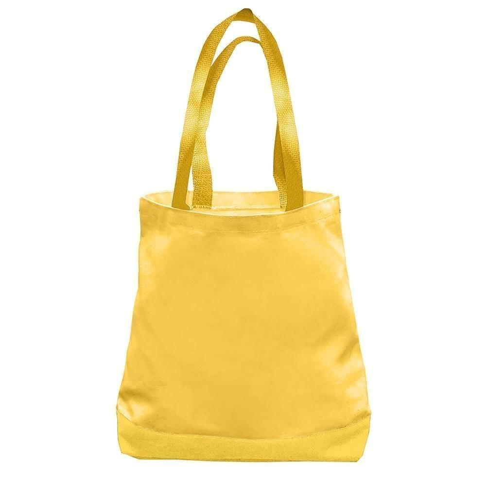USA Made Nylon Poly Promo Boat Totes, Gold-Gold, 7011000-A45