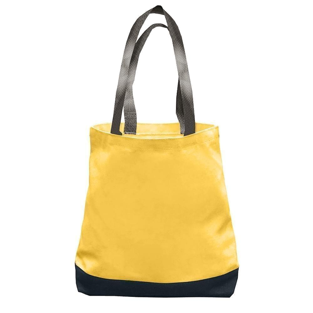 USA Made Nylon Poly Promo Boat Totes, Gold-Black, 7011000-A4R