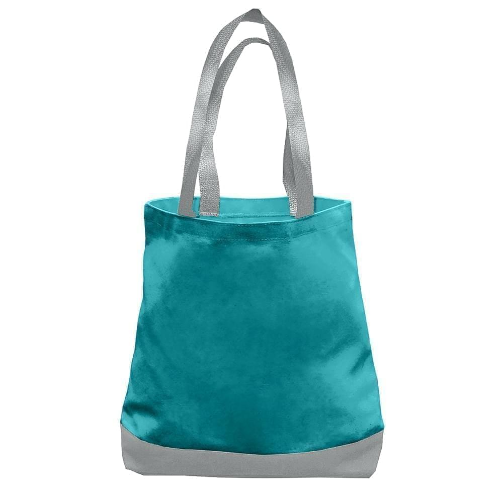 USA Made Nylon Poly Promo Boat Totes, Turquoise-Gray, 7011000-A9U